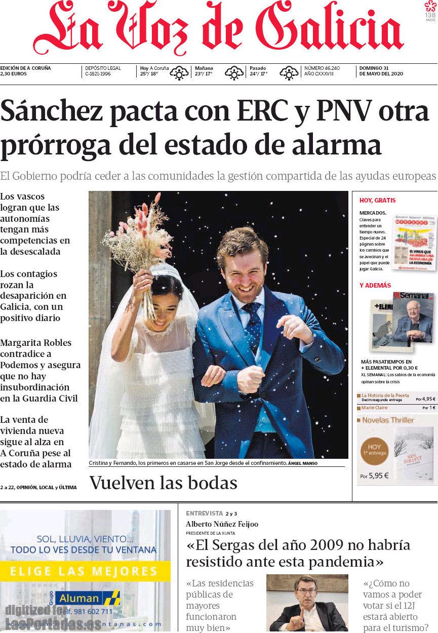 Periodico La Voz De Galicia 31 5 2020
